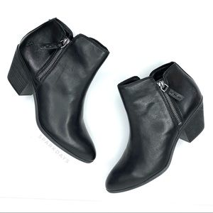 FRYE Black Leather High Heel Booties Boot | 8.5